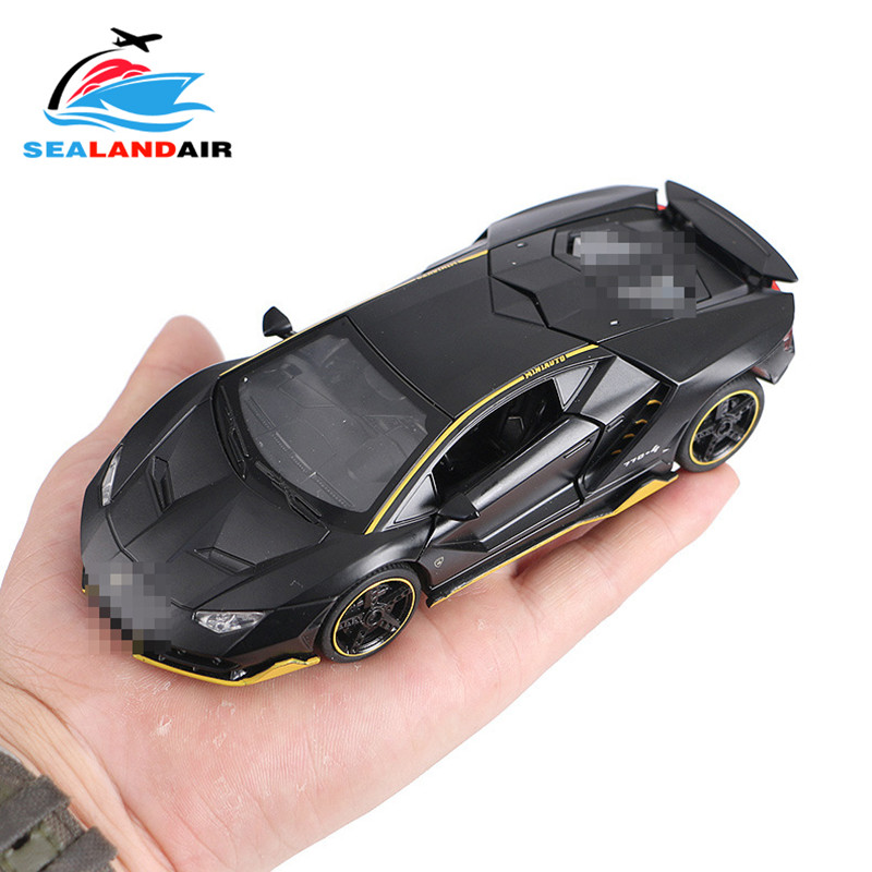 LP770 1:32 Lamborghinis Alloy Sports <font><b>Car</b></font> <font><b>Model</b></font> Diecasts & Toy Vehicles Sound Light Super Racing Pull Back <font><b>Car</b></font> Kids Birthday Gift image