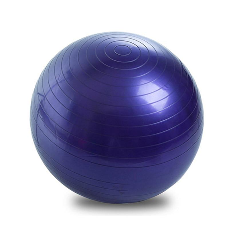 Yoga Balls Pilates Fitness Gym Balance Fitball Exercise Workout Ball 55 65 75 CM With Pump