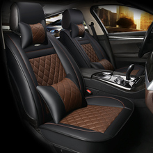 цена на HLFNTF Leather Universal Car Seat Covers For Jeep renegade wrangler patriot grand cherokee car accessories car-styling