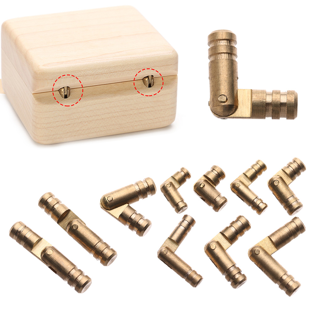 10Pcs Jewelry Box Hinges Hidden Invisible Concealed Barrel Hinge Pure Copper Wine Wooden Case Supplies Furniture Hardware(China)