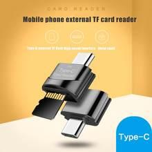 Novo usb 3.0 tipo c para micro-sd tf adaptador otg cardreader mini leitor de cartão de memória inteligente leitor de cartão para portátil samsung huawei