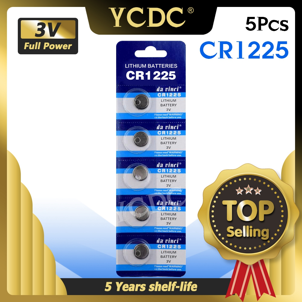 5 шт. упак. батарейки CR1225 LM1225 BR1225 KCR1225, Литиевые Батарейки 3 в CR 1225 для часов, электронных игрушек, пультов ДУ