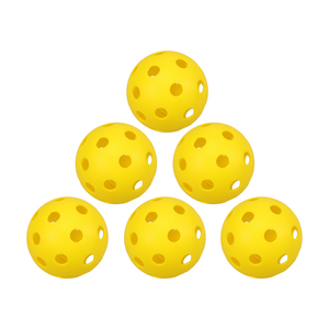 8pcs Plastic Golf Balls Yellow Pickleball Ball with Holes Toy Ball for Indoor and Outdoor Courts