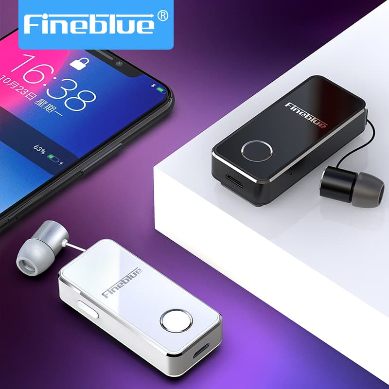 Fineblue Drahtlose Bluetooth Kopfhörer F2 Hifi Headset Sport Clip für iPhone Android Hallo Res <font><b>Vibration</b></font> Noise Cancelling image