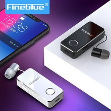 Fineblue F2 Pro Wireless Bluetooth Earphones Hifi Handsfree Headset Mic TWS Clip for iPhone Android Hi Res Noise Cancelling Mini