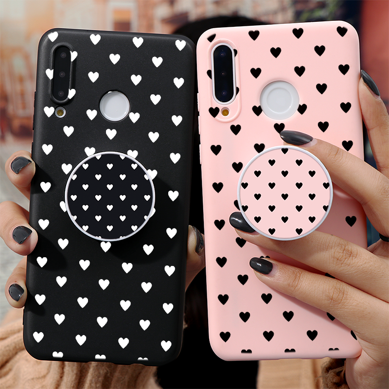 Case For Huawei P40 Lite P30 P20 P10 Honor 8X 9X 9 Mate 20 10 Lite Pro Y6 Y7 Y9 P Smart Z 2019 TPU Couple Phone Holder Case Capa