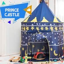 Lblla 105x135cm tienda de campaña para chico casa portátil princesa Castillo presente bandera para colgar tipi para niños tienda de campaña de juego cumpleaños regalo de Navidad