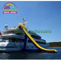 Custom Inflatable Yacht Slide, Floating water Inflatable dock slide, sea slide for boat