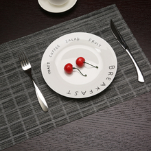 4pcs/set  Pattern Placemats for Dining Table Mats Modern Brown Frame PVC Nil Decorative Place mat Insulation Pads