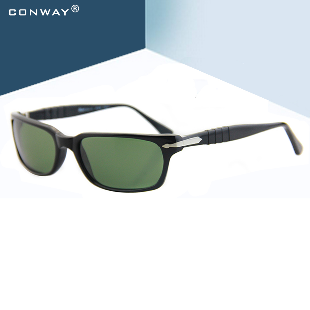 CONWAY Small Rectangular Sunglasses UV Protection Mens Sunglasses Driving Fishing Baseball Golf Shade Eyewear Unbreakable Arms