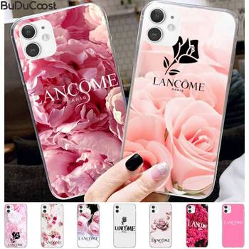 French Cosmetics Lancome Flower Phone Case For Iphone 12 11 Pro11 Pro Max X 8 7 6 6S Plus 5 5S SE Cass image