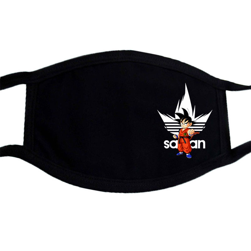 Dragon Ball  Japan Anime Mouth Muffle Mask Funny Fashion Dustproof Washable Masks Face Black Bilayer Warm  Masks