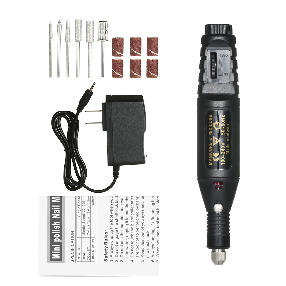 Elektrische Nagel Bohrer Grinder Stift Bohrer Werkzeug Entfernen Bohrer Maschine Schleifen Rotary Tool Kit Mit Zubehör für Gravur