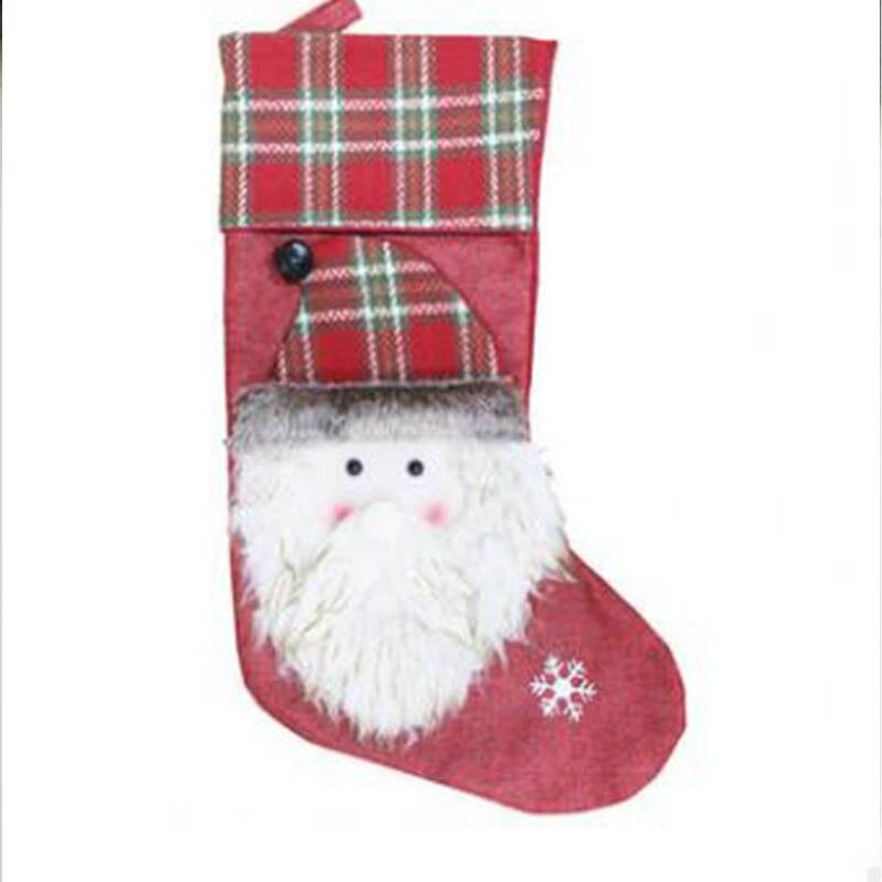 Новый Рождественский носок Подарочная сумка Рождественская елка кулон старый человек снеговик лося подарок отель ветрина магазина украше...