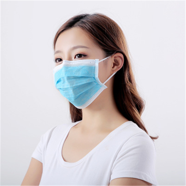 50pcs Disposable Meltblown Dust Nonwove Blue 3 Layer Ply Anti-Flu Earloop Protective Mouth Face Medical Mask Filter 4