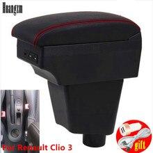 Для Renault Clio 3 Captur подлокотник коробка центральный магазин содержание для Renault Clio Armres коробка с USB интерфейсом