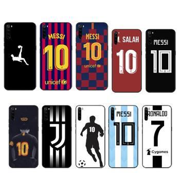Перейти на Алиэкспресс и купить Football MESSI CR7 чехол coque fundas etui для xiaomi note max mi 3 7 8 9se Redmi 7 7a 8 8 8t 10 pro lite чехлы