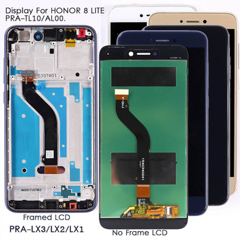Display For Honor 8 Lite PRA-TL10 LCD Display Touch Screen Replacement For Huawei P8 P9 Lite 2017 PRA-LA1/LX1 Tested LCD Screen 1
