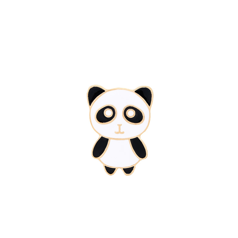 Булавка в виде животных из мультфильма голые медведи Милая гризли панда ледяной медведь джинсовые эмалированные булавки Kawaii нагрудные броши значки модные подарки - Окраска металла: XZ139-1