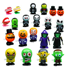Halloween Chain Clockwork Toy Ghost Frankenstein Vampire Capsule Funny Joke Prank Wind Up Jumping Walking Toys Kid Gifts JM305 iwish halloween wind up walking white imp jump ghost winding goblin jumping apparition for children kids toys all saints day
