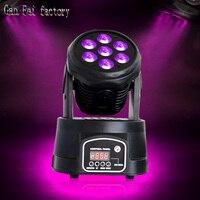 Mini led wash 7*12W 4w1 kolor rgbw mieszanie LED ruchoma głowica quad dmx 14 kanałów w Oświetlenie sceniczne od Lampy i oświetlenie na