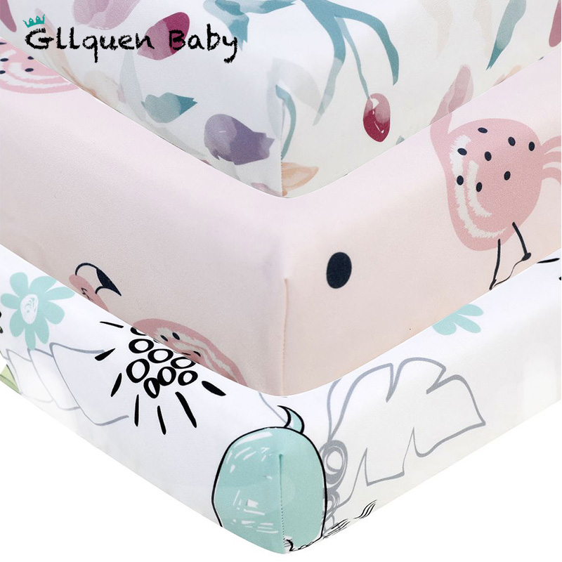 Baby Crib Sheet 1 Pc Toddler Sheet 100% Polyester Baby Fitted Sheet For Standard Crib And Toddler Mattresses(130*70 CM)