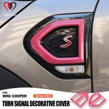 1 paio di adesivi per copertura parafango per ala laterale per esterni Auto adesivo per indicatori di direzione per mini cooper Countryman F60 One / S accessori Auto