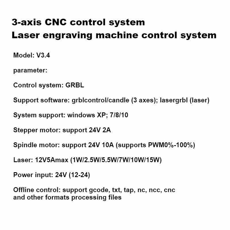3 축 GRBL 1.1f CNC 레이저 제어 시스템 라우터/레이저 조각기 제어 보드 오프라인 컨트롤러 USB 포트 컨트롤러 카드