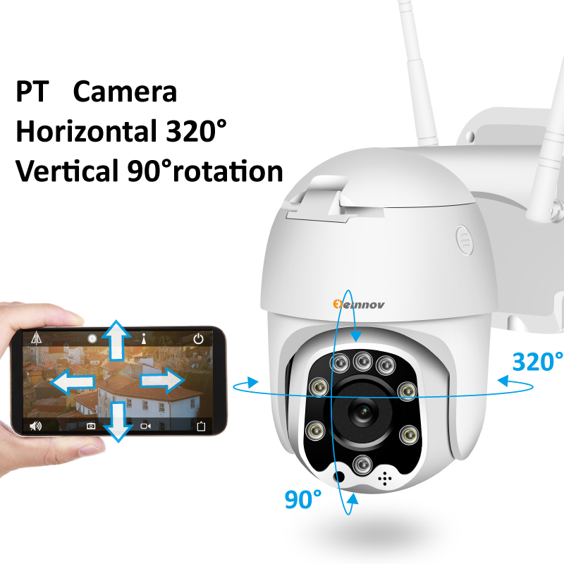 Hb288eb4ff4684effb6529f84b97184493 Einnov Wifi IP Camera Wireless Security Camera Outdoor 1080P HD Surveillance Camara Audio Onvif 2MP IR Night Vision P2P Yoosee