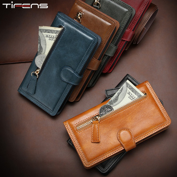 Leather Zipper Wallet For iPhone 12 Mini 11 Pro Max Magnetic Flip Case For iPhone X XR XS MAX 6 s 6s 7 8 Plus Cards Phone Cover