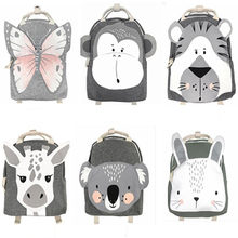 Children Cartoon animal school bag kindergarten school backpack baby toy storage bags Girls Boys Backpacks(China)