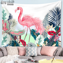 Flamingo Tapestry Wall Hanging Hippie Macrame Swimming Mat Home Decor Beach Towel Decor Livingroom 130CM*150CM/150CM*200CM(China)