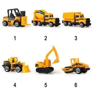 Image 5 - 1:64 중형 모조 관성 멀티 타입 엔지니어링 차량 어린이 굴삭기 모델 자동차 장난감 소년 용