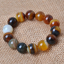 Drop Shipping Natural Agate Bracelet Round Beads Crystal Bangles Bracelets Pretty women Mens Jade Jewelry