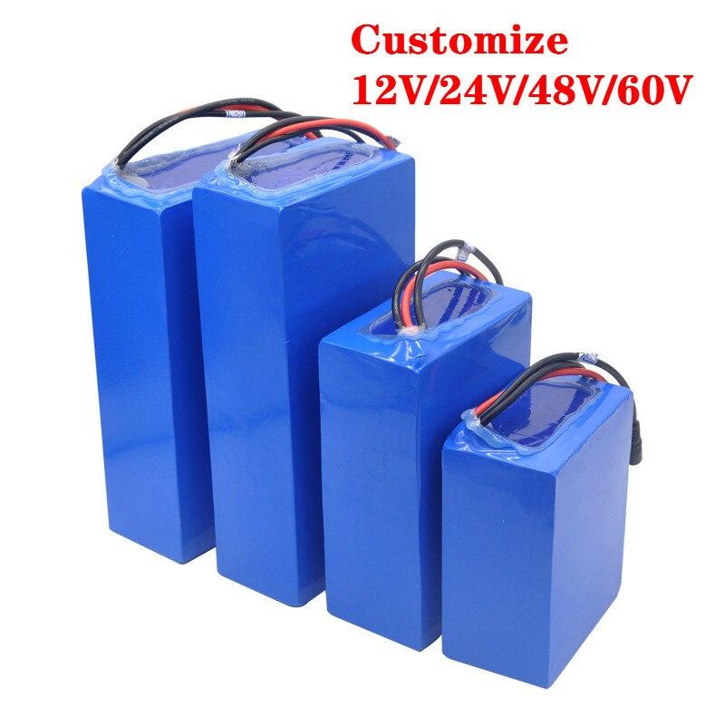Personalizzato 12V 24V 36V 48V 60V 72V pacco batteria del veicolo elettrico