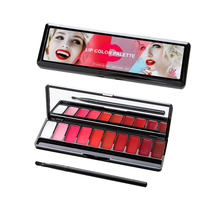 10 Color Matte Lipstick Palette Waterproof Nutritious Lips Makeup
