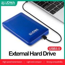UDMA Mini przenośny zewnętrzny dysk twardy 500GB 750GB USB3.0 pojemność pamięci 2.5