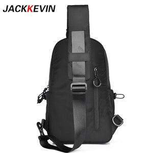 Image 5 - Jack Kevin sac messager Anti vol pour hommes, sacoche école dété court voyage, Pack à une épaule imperméable en Nylon