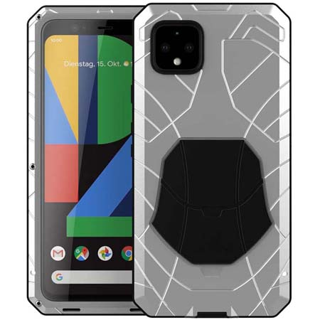 Case For Google Pixel 4 4 XL Armor Aluminum Alloy Metal Cover Silicone Bumper Military Shockproof Heavy Duty Cases For Pixel 4