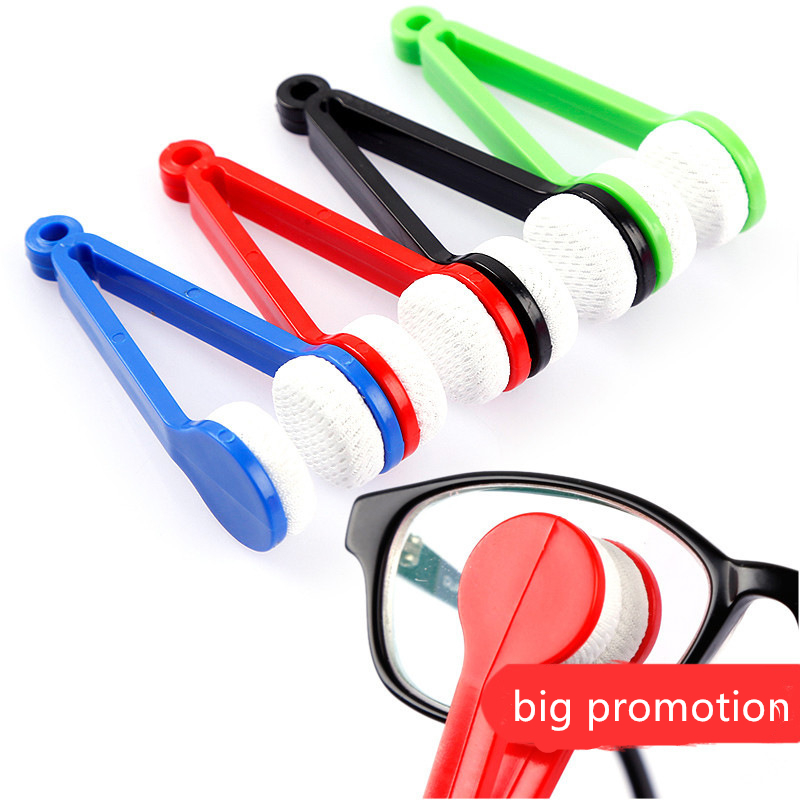 5pcs/lot Glasses Eyeglass Cleaner Brush Microfiber Spectacles Cleaner Brush Cleaning Tool Multi-Function Portable Cleaning