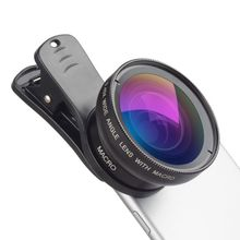 Hot-selling 0.45 X Universal Ultra Wide Angle 12.5 Micro SLR External Camera Mobile lens Phone Lens With Webcam Cover