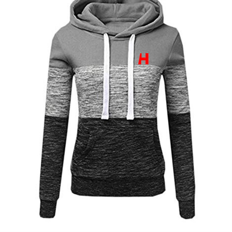 High-quality Men And Women Color-matching Long-sleeved Hoodie Hooded Sweatshirt Outdoor Sweatshirt Casual Patchwork