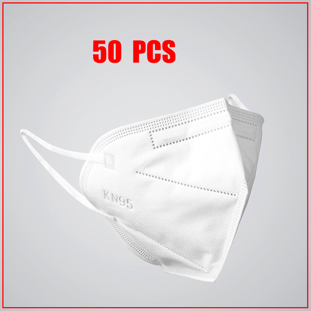50 Pcs KN95 PM2.5 Anti-fog Protective Masks With filter 95% Respirator Reusable N95 Protective Mask ffp2 Flu Anti Infection Mask