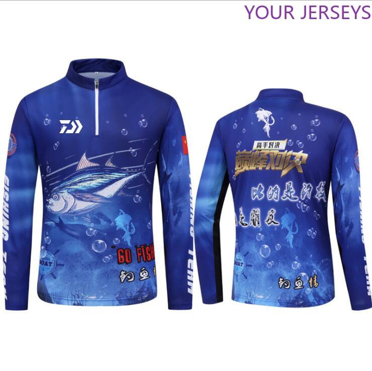 NEW Men DAIWA Fishing Shirts Anti UV Long Sleeve Outdoor Fishing Clothing Hooded Fishing Jackets Cycling Hiking Fishing Clothes