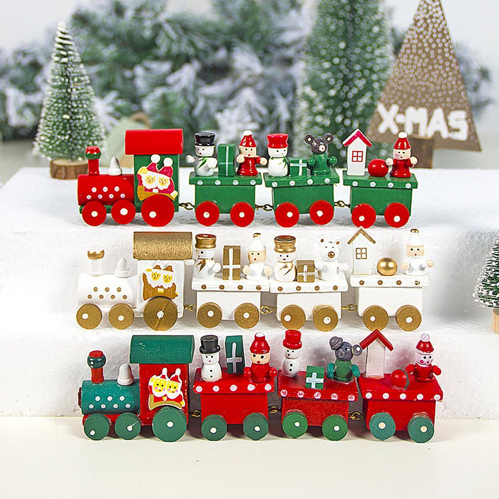 2019 Hot New Train Magnetic Wooden Decorations Trains Model Toys Christmas Santa/Bear Gift for Kids Children Fit Wood Biro Track