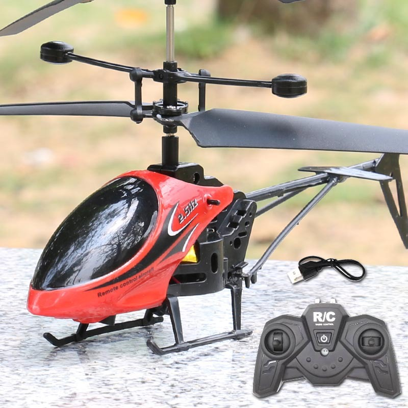 Factory Sales Remote Control Aircraft Unmanned Helicopter CHILDREN'S Toy Remote Control Drop-resistant Remote Control Airplane U