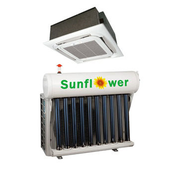 цена на TKFR-100QW_36000btu Cassette Solar Air Conditioner With Solar Collector Or Solar Flat Panel With Grid Power For Refrigeration