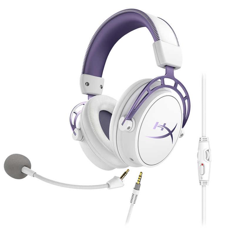 Kingston HyperX chmura alfa fioletowy limitowana edycja E-słuchawki sportowe zestaw słuchawkowy do gier ze stopu klatek na sekundę RGB klawiatura podwójne nasadek klawiszy