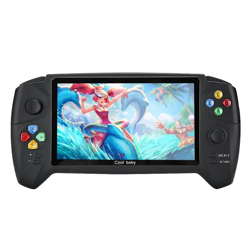 COOLBABY Retro Handheld Game Player 7.0 inch LCD Color Dual Joystick HD Camera Video Game Console Built in 3000 Games for adults