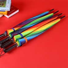 2019 Fashion 16k Creative Long Handle Rainbow Umbrella Ladies UV Mens Windproof Automatic
